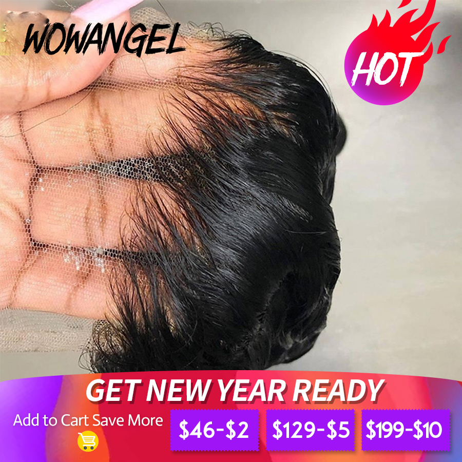 Closures Skins Melt Lace-Frontal Human-Hair Transparent Remy Invisible Straight 5x5 HD