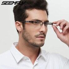 Seemfly Metal marco medio de gafas graduadas para miopía Anti azul rayos Retro miope gafas 0-0,5-1-1,5-2-2,5-3 -4 -5 -6