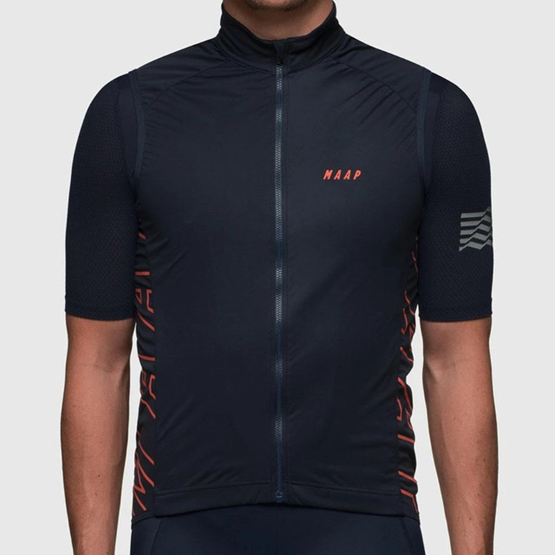 MAAP Men Bike Cycling Vest Black Windproof Waterproof Vest Lightweight And Breathable Jersey Ropa De Ciclismo Pro Team Clothing