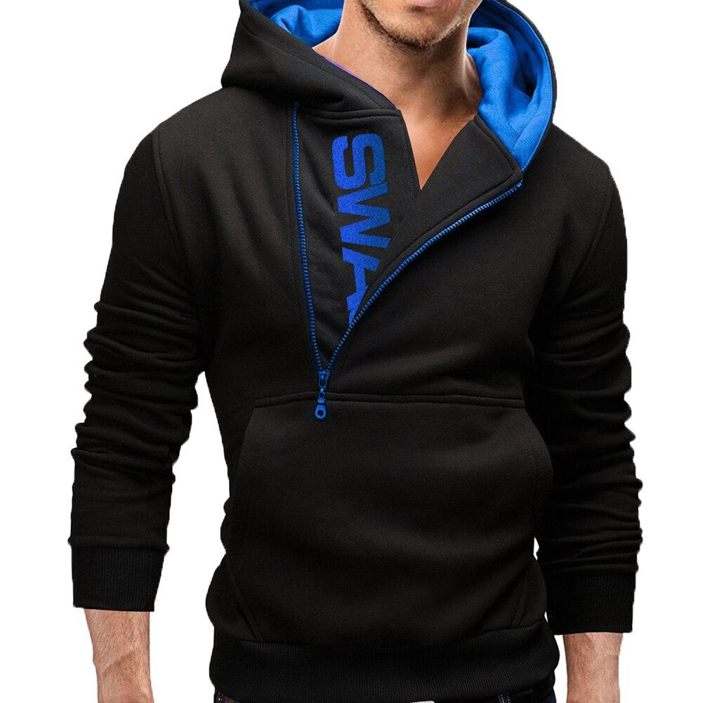 H83c945db18f04ffa9645b737aac411308 Sports Men Plus Size Slant Zipper Letter Hoodies Long Sleeve Hooded Sweatshirt