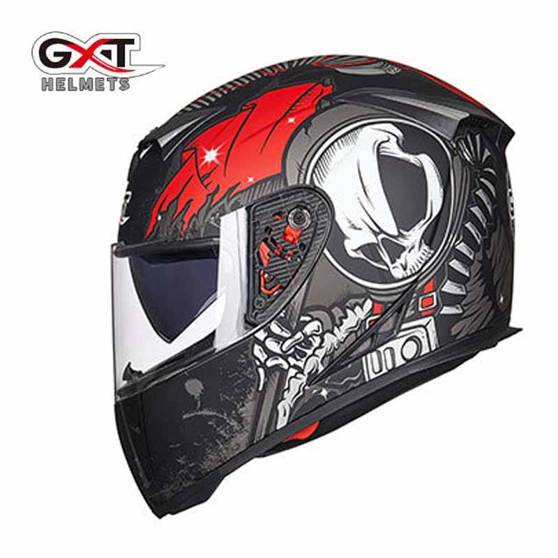 <font><b>GXT</b></font> G358 Classic Skull motocross full face <font><b>Helmet</b></font>, motorcycle <font><b>MOTO</b></font> electric bicycle safety headpiece image