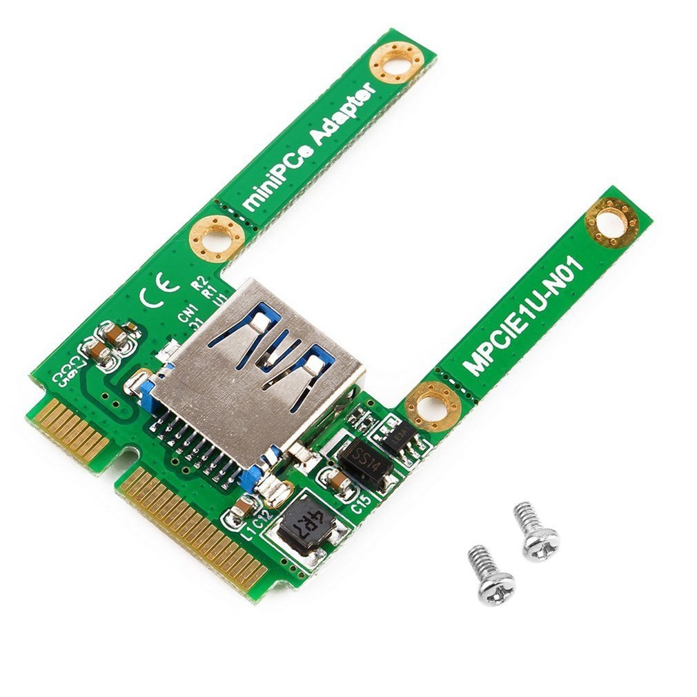 Green 51*29*7mm 4g Mini PCI-E Card Slot Expansion to USB 2.0 Interface Adapter Riser Card Eletronic Compatible with USB1.1