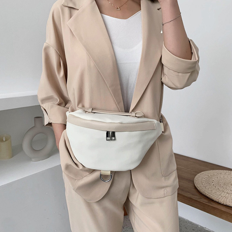 Large Capacity Women Waist Bag Fanny Pack New Fashion Simple Chest Bag High Quality Female Big Belt Waist Pack Crossbody Bags