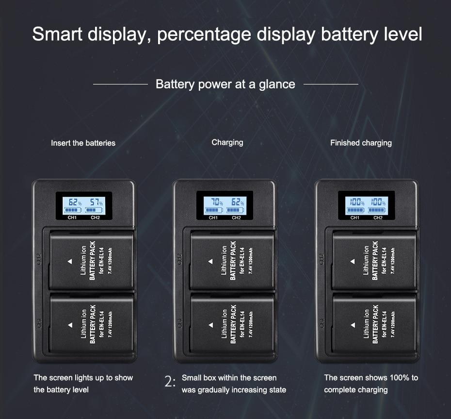 EN-EL14 EN-EL14a ENEL14 EN EL14 Manequim Bateria