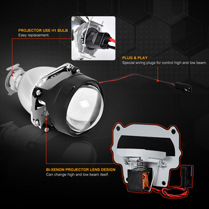 Image 3 - Mini 2.5 inch Bi Xenon Projector Lenses Mask Silver Shroud  fit for H4 h7 Socket Car Headlight Headlamp Use H1 Xenon LED Bulb