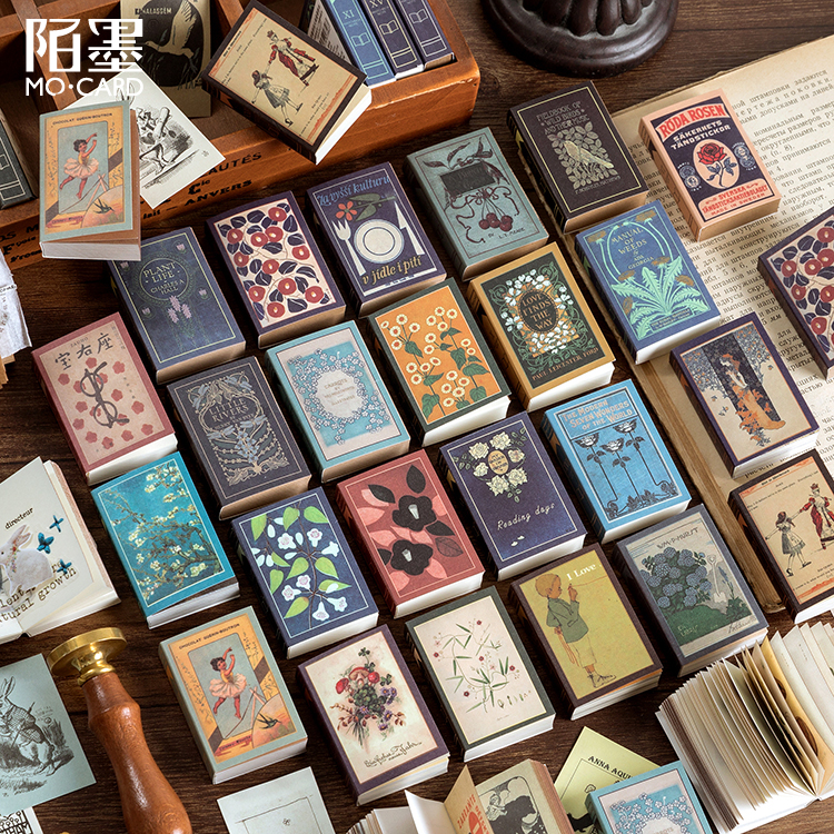100 Pcs Van Gogh Book Collection Series Kraft Paper Mini Greeting Card Postcard Letter Envelope DIY Decoration LOMO Cards