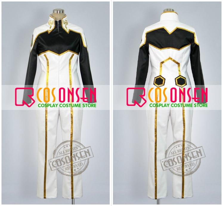 Anime Code Geass chevalier de sept Cosplay Costume blanc noir combinaisons de combat uniforme ensemble complet pour unisexe personnalisé faire n'importe quelle taille