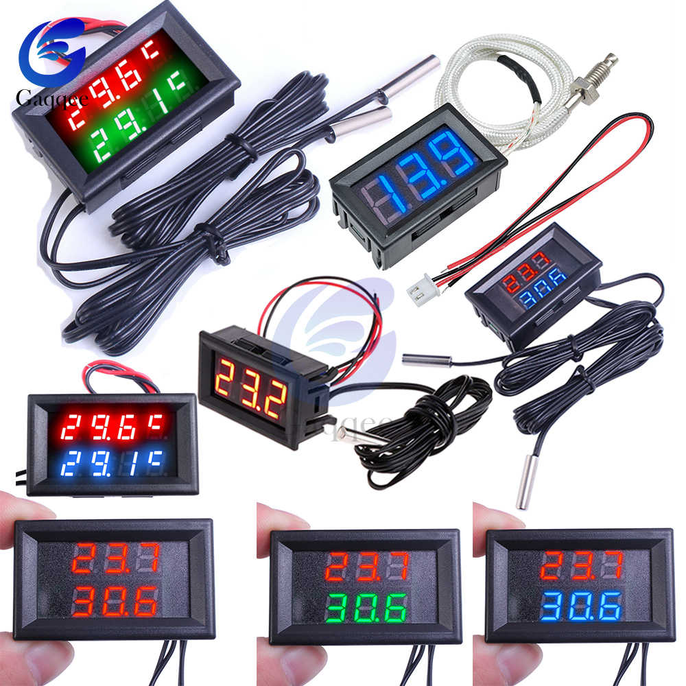 1M Dual LED Display Digital Thermometer Kühlschrank Aquarium Auto Auto Temperatur Sensor Meter Detektor Tester Waterpfoof Sonde