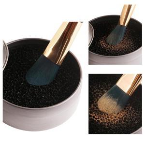 1 шт. чистящий коврик для очистки кистей для макияжа сухая коробка мытье кистей для макияжа гель чистящий коврик и губка косметический инстр...
