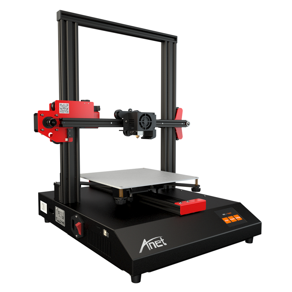 Large 3D Printer ET4 Printer Anet Metal Frame Auto Leveling Loading Filament Detection Offline Resume Printing Micro SD Card in 3D Printers from Computer Office