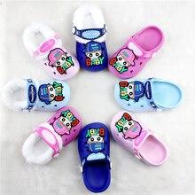 Детские сандалии; детские тапочки; сезон зима-лето; детская обувь; Домашние Сабо; обувь для пляжа и сада; съемная шерстяная обувь