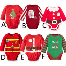 Bodysuit Fall 2019 Long Sleeve Clothes For Baby Girl Infantil Body 1 Year Cotton Boy First Christmas Kids Onesie