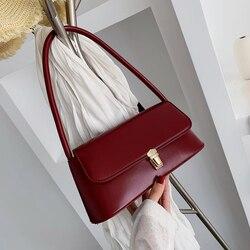 Nova Menina Pequeno Saco 2019 Nova Moda Coreana Casuais Retro Quadrado Pequeno Saco Pendurado Bolsa de Ombro Baguette bag