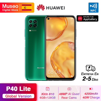 Перейти на Алиэкспресс и купить Смартфон Huawei P40 Lite 6 ГБ 128 ГБ Kirin 810 48 МП AI Triple Cams 16 МП фронтальная камера 6,4 ''FHD экран EMUI 10