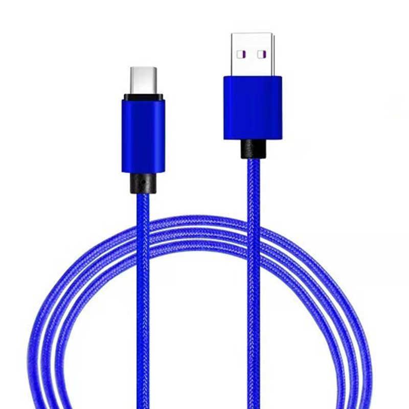 2.4A USB Tipe C Kabel untuk Samsung S10 S9 S8 A50 Xiaomi Redmi Note 7 Pengisian Cepat USB-C Charger Ponsel telepon Usbc Tipe-C Kabel