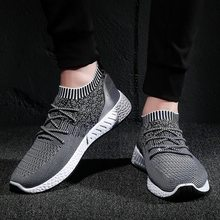 Adisputent 2019 Men Vulcanize Shoes Sneakers Breathable Casual 2019 Male Air Mesh Lace Up Shoes Tenis Spring Adult Trainer(China)