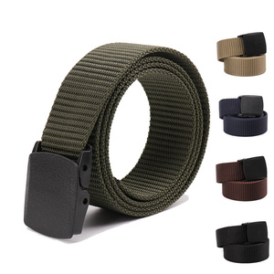 Men's Genuine Luxury Business Leather Belt Nylon Fabric Military Outdoor Tactical Belt Army Style Male Belts