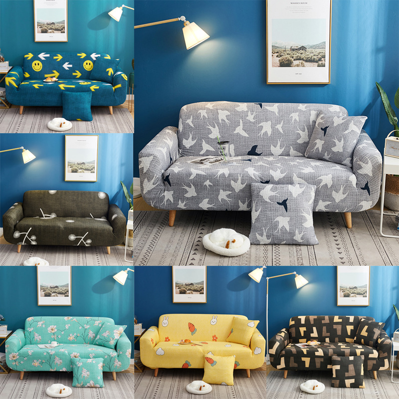 Printed Sofa Covers for Living Room Geometric Elastic Couch Case Slipcovers for Loveseat Chair L shape