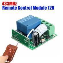 Mando a distancia 433 MHz DC12V 10A, receptor de 1 canal, 433 MHz, Relé inalámbrico, RF