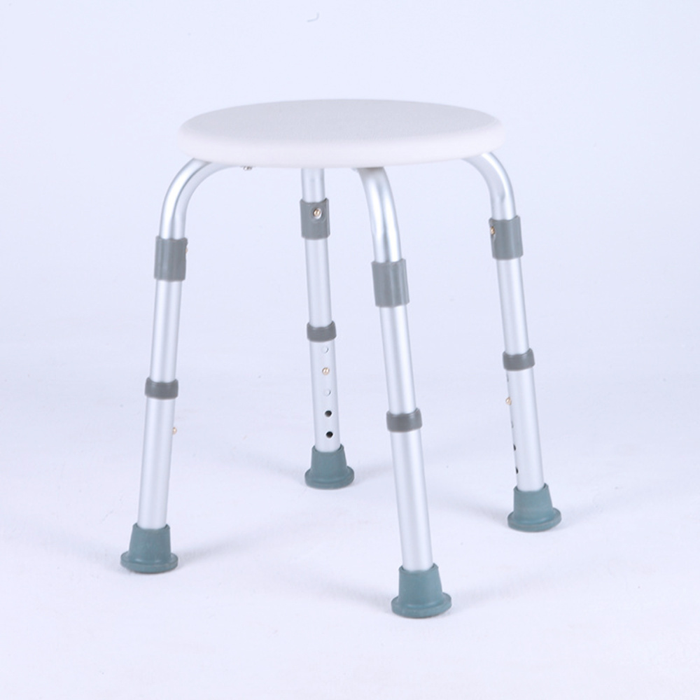Adjustable Bath Tub Shower Chair 8 Height Bench Stool Seat with Non-Slip Rubber Sole for Bathroom