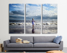 Modern Colorful Photo Picture Beach Cute Room Decor 3 Pcs Cities Canvas Art Painting Living Bedroom