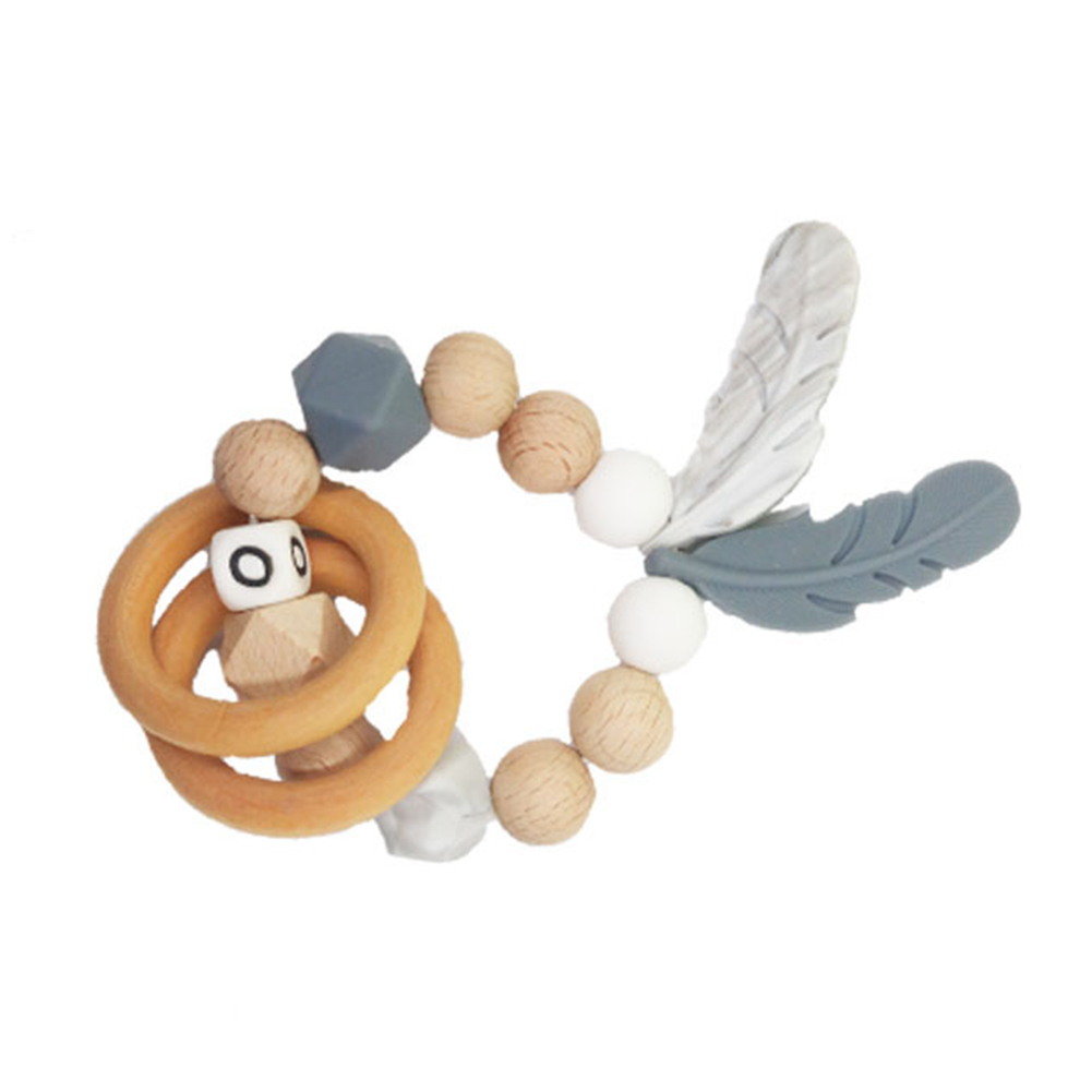 DIY Baby Pacifier Clip Chain Silicone Beads Circles Wooden Holder Soother Nipple Holder For Infant Nipple Bottle Clip New
