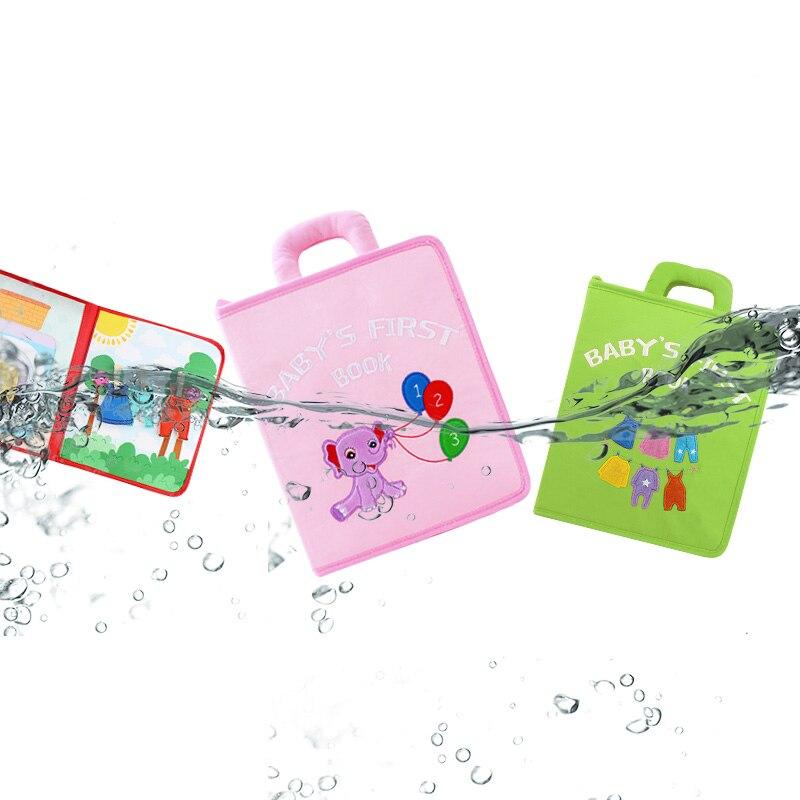 Libro de bebé Montessori de tela suave, libros de tela Sensorial para bebés, juguetes educativos interactivos de aprendizaje para niños pequeños, regalos de libros para edades tempranas - 4