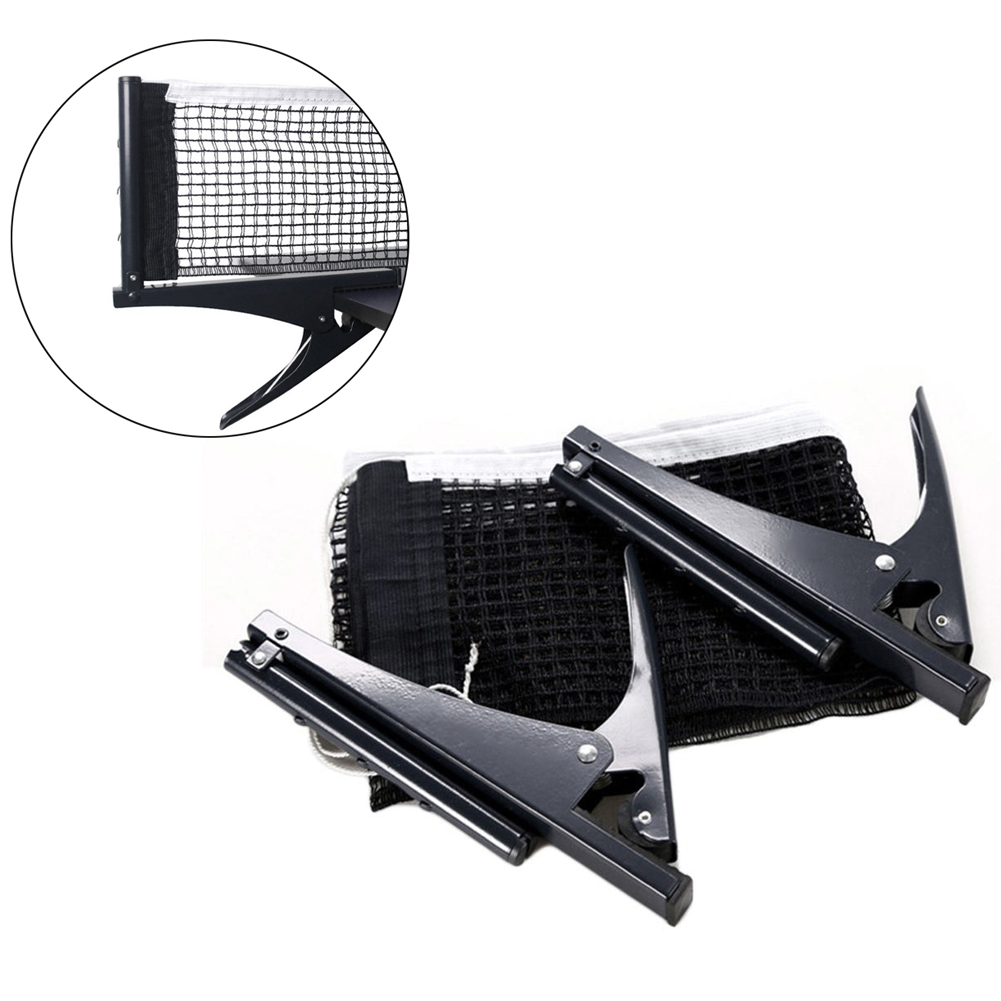 Professional Standard Table Tennis Mesh Net Ping Pong Table Net Rack Kit Table Tennis Accessories Clamp Types