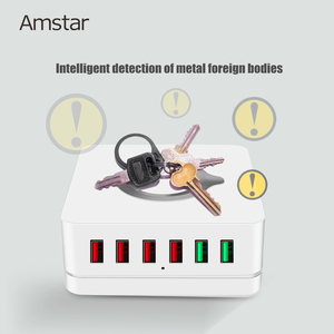 Image 5 - Amstar 72W USB Charger 10W Wireless Charger Quick Charge 3.0 6Port Fast Mobile Phone Charger for iPhone 11 XS XR Samsung S10 S9