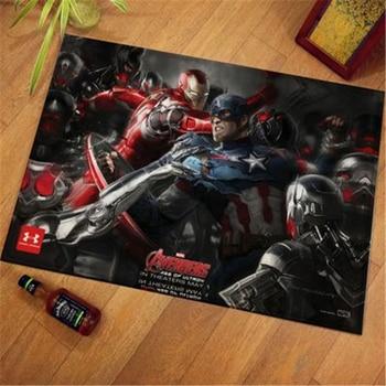 Captain America The Avengers Hero DoorMat Rug Plush Floor Rug Carpet Room Doormat Non-slip Mat Cartoon Kids Playmat фреска the whole room room america syz003a