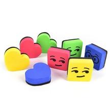 2PC Creative Cartoon Magnetic Whiteboard Wipe Office Home School Learning Supplies Cute Board Sponge Chalkboard Dry Erasers