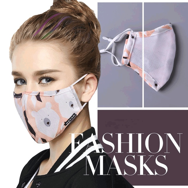 1Pcs Korean Style Mask On The Mouth Anti Dust Mouth Mask Activated Carbon Filter Mouth-muffle Mask Anti PM2.5 Fabric Face Mask 2