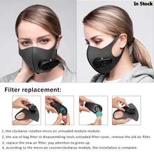 Smart Electric Face Mask Air Purifying Anti Dust Pollution Fresh Air Supply pm2.5 With Breathing Val