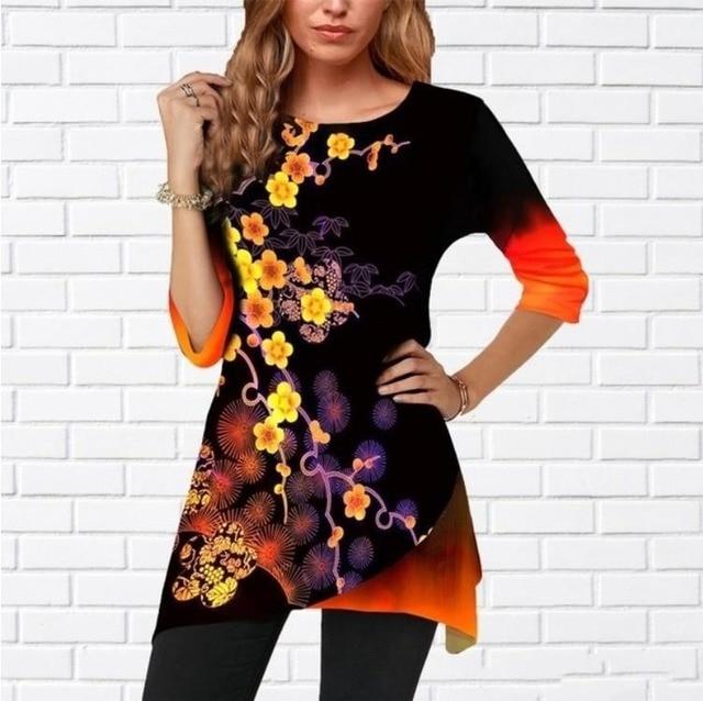 Women Shirt Plus Size Milk-silk  Spring Color 2