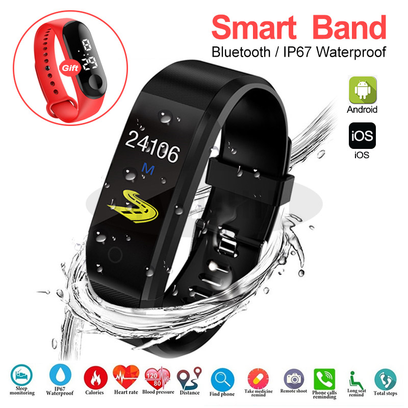 Smart Bracelet Sport Health Bracelet Heart Rate Blood Pressure Smart Band Activity Fitness Tracker Smartband