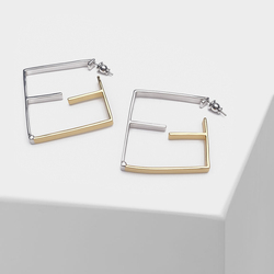 Geometric design stylish simple metal drop earrings