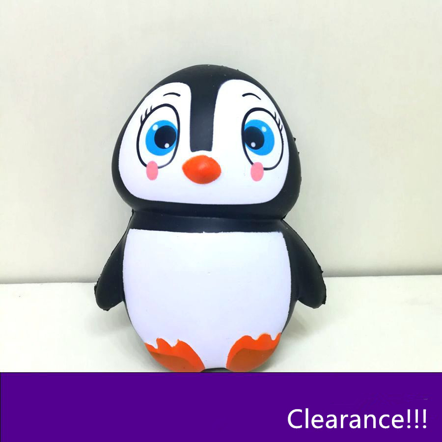 Clearance!!! Cute Cartoon Squishy Squeezing Toys Penguin Slow Rising Relief Stress Toys Children Kids Gifts