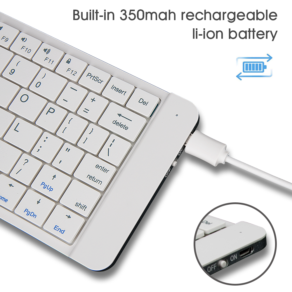 Image 4 - Rii K09 Portable Leather folding Mini Bluetooth Spanish Keyboard Foldable  for iphone,android phone,Tablet,ipad,PCKeyboards   -
