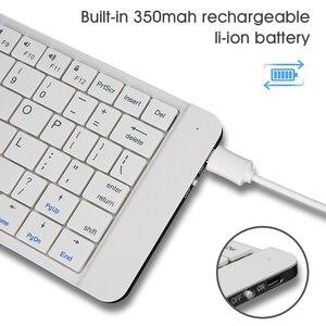 Image 4 - Rii K09 przenośna skórzana składana Mini Bluetooth hiszpańska klawiatura składana na iphonea, telefon z androidem, Tablet,ipad,PC