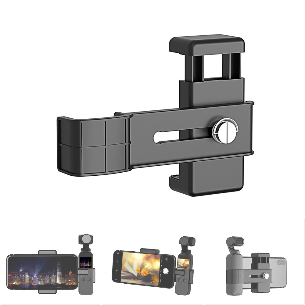 Standard 1/4 Inch 56-85mm Wide Phone Holder Clamp For DJI OSMO Pocket Accessories Phone Extension Mount Bracket Quick Release