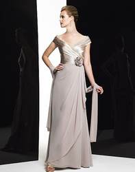 2019 Элегантные платья для матери невесты, а-силуэт, с открытыми плечами, шифоновое кружево, большие размеры, длинные платья жениха для матери