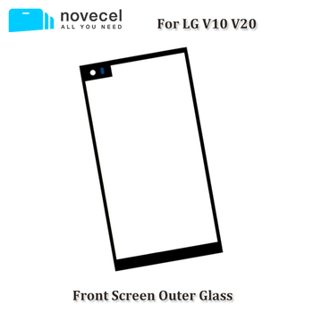 Novecel 10pcs High Quality For LG V10 V20 H990 H910 Touch Screen Front Glass Outer Lens Replacement Parts