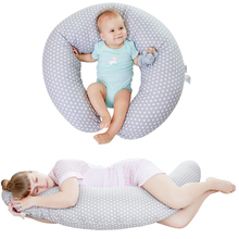 Pillow Pregnancy-Side Sleeping-Support U-Shape Washable Cotton