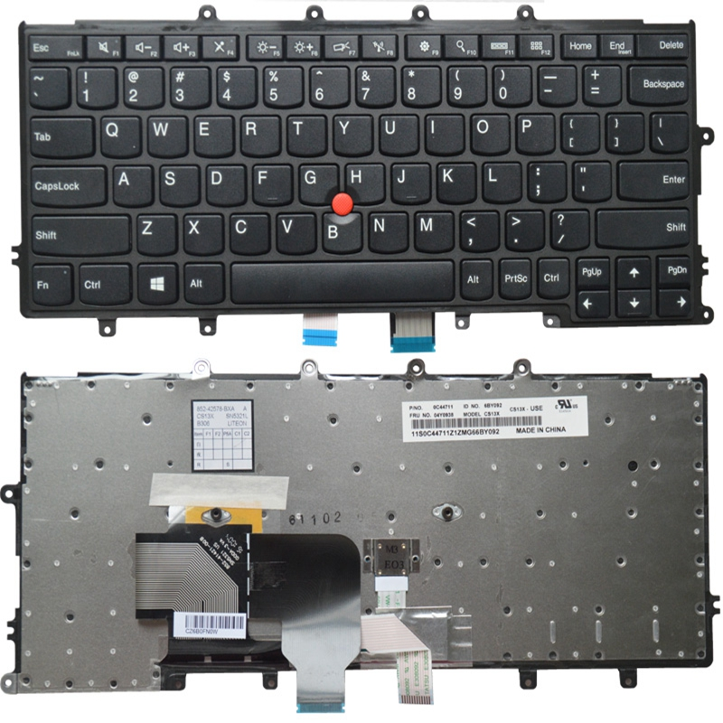 GZEELE English US Laptop keyboard for LENOVO FOR Thinkpad X230S X240 X240S X250 X250S x240i X270 X260S laptop without backlight-in Replacement Keyboards from Computer & Office on