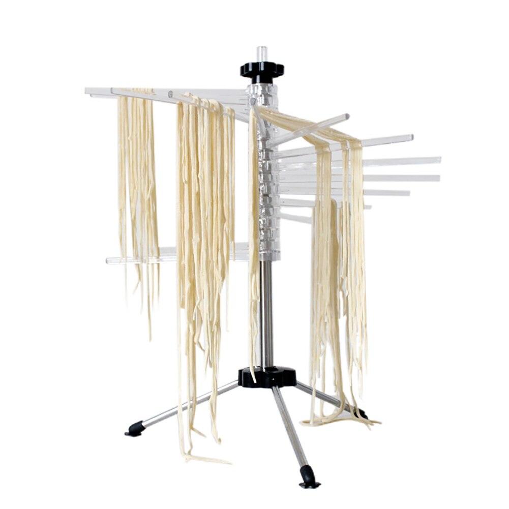 Держатель для лапши, подвесной, легко Очищаемый, для кухни, ручная сушилка для пасты, складная стойка для сушки пасты, аксессуары для спагетти, инструменты для домашнего вращения, нескользящая - 6