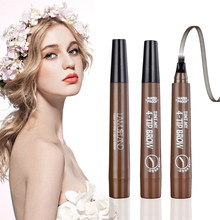 2019 New Four-Headed Liquid Eyebrow Pencil Make-Up Waterproof And Sweat-proof Long Lasting Non-fading Eyebrow Pencil(China)
