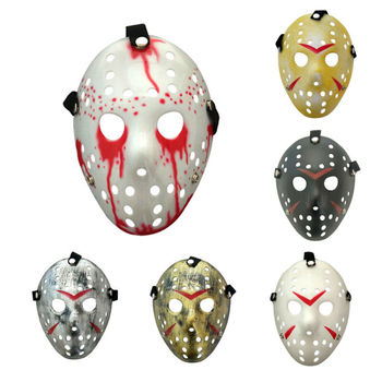 Horror Cosplay Toy Mask Friday The 13th Halloween Myers Jason VS Freddy Prop Funny Masquerade Halloween Cosplay Costume image