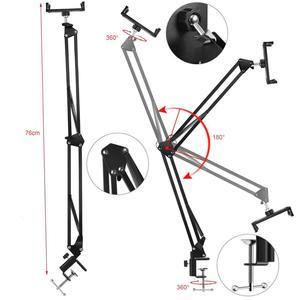 Image 5 - Soporte plegable para teléfono móvil, brazos largos giratorios, ajustable, 360, para cama de escritorio, perezoso, para iphone y tableta