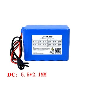 Image 4 - Liitokala Protection 12V 10ah 18650 lithium Rechargeable battery 12v 10000mAh for Monitor emergency lights +12.6v 3A Charger