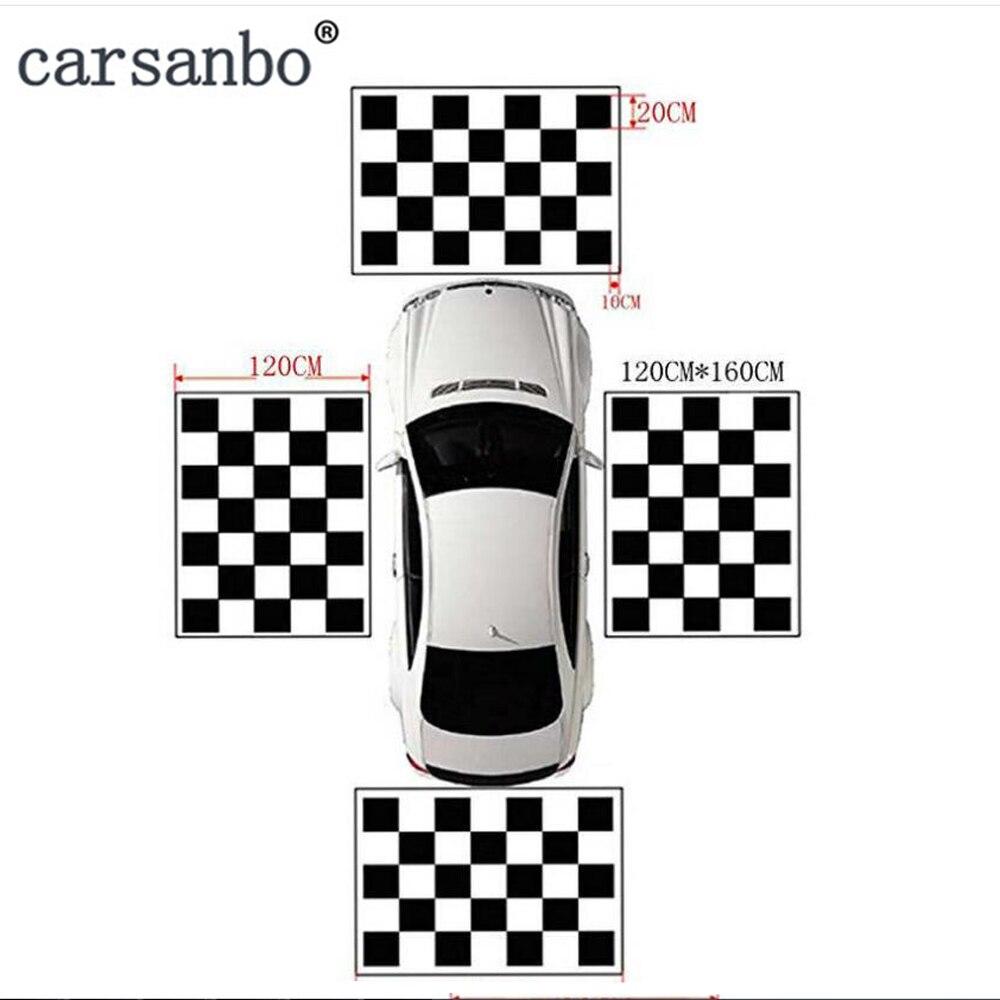 Carsanbo tissus tissu d'étalonnage spécial pour 360 degrés caméra Surround oiseau vue système débogage vêtements 4 pièces/ensemble non tissé